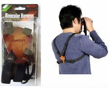 New Matin BINOCULAR HARNESS Strap Canon Nikon Camera Range finder Belt Leather