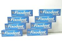 8 Fixodent 0.6 Oz Secure Denture Adhesive Cream Upper Lower Adhesive Strips NEW