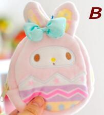 My melody cosplay egg plush zip coin bag money bags handbag anime card bag