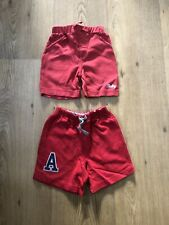X2 Pairs Of Boys Red Shorts Age 6-9 Months