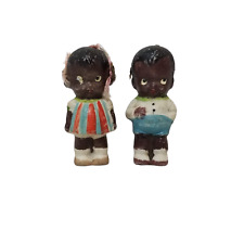 Japan African American Bisque Doll Approximate 3� Tall Frozen Boy Girl Black