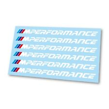 x6 BMW M Performance M1 M2 M3 M4 M5 Logo Badge Hi Temp Brake Caliper Stickers