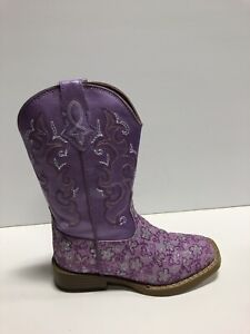 Roper Kids Lavender Square Toe Boot Size 10 M Toddlers