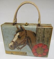 DELILL Cedar Farms Horse Show Handbag Purse Pocketbook Bag Clutch RARE Vintage