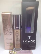 URBAN DECAY NAKED SKIN WEIGHTLES ULTRA DEFINITION LIQUID MAKEUP SHADE 5.0 +BRUSH