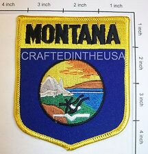 Montana State Flag Shield Embroidered Patch Sew Iron On Biker Vest Applique New