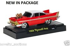 K49 81161 02 M2 MACHINE GROUND POUNDERS 1958 PLYMOUTH FURY  RED 1:64