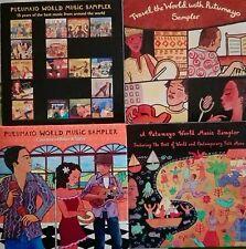 PUTUMAYO WORLD MUSIC sampler promo rare stock lot 4cd