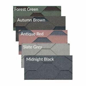 Roofing Felt Shingles   Shed Roof Felt Tiles   Hexagonal   3 Tab + Adhesive