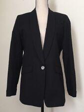 "NWT JCREW $168 Tall unstructured blazer cotton-linen Size10T H6201 Black SP""18"