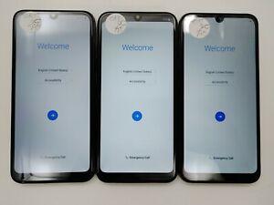 Lot of 3 Google Locked LG Harmony 4 K400AM Cricket Check IMEI GLC LR-384