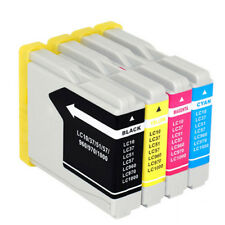 4 pcs Brother LC37 LC57 Ink Cartridges for DCP-150 DCP-350C DCP-560C DCP-750CW
