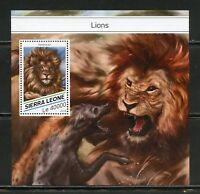 SIERRA LEONE 2018  LIONS SOUVENIR SHEET MINT NH