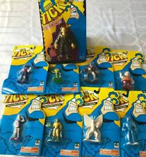 1994 Bandai 'The Tick' Colectible Figurines Lot of 8 + Bendable (4 Evil, 4 Good)