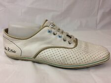 Marc Ecko Mens 10.5 Med EUR 44 White Casual Athletic Leather Sneakers Shoes Blue