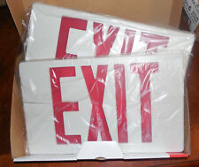 New Navilite Emergency Exit Sign LED Battery Back Up White W Red Letter NXPB3RWH