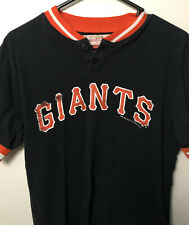 San Francisco Giants Vintage Mitchell Ness Shirt Black Pullover Small