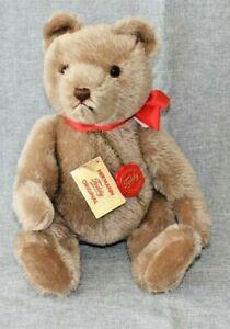 """Hermann Teddy Original 13"""" Wool/Cotton Humpback  Teddy Bear Red Tag West Germany"""