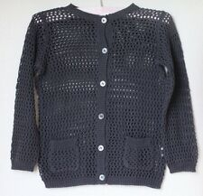 Bonpoint Fille Anthracite Knit Cardigan 4 ans