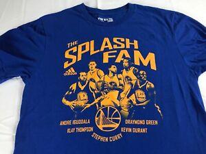 The Splash Fam T-Shirt Adult SZ S/M Adidas Golden State Warriors NBA Basketball