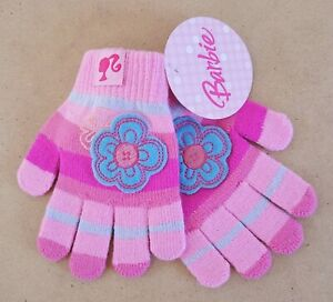 Mattel Barbie – Barbie Kids/Girls Gloves Size 1-6 New With Tags