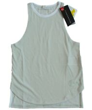Under Armour Girls Size XS or S Threadborne Play Up Tank Top Glacier Gray/White