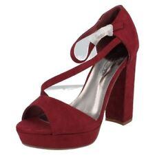 Scarpe da donna rossi Spot On con tacco altissimo (oltre 11 cm)