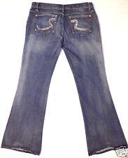 Rock & Republic Stretch denim boot cut flare blue jeans pants size 31