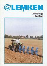 Lemken Drehpflüge EurOpal Prospekt 10/99 brochure