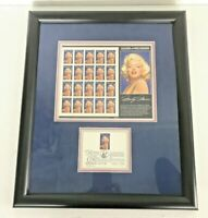 Marilyn Monroe Complete Legends Of Hollywood Stamps 1995 w/1ST ISSUE Framed