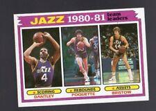 1981-82 TOPPS UTAH JAZZ TEAM LEADERS #65 (ONLY ONE CARD)