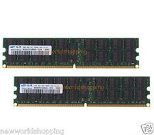 Samsung 8GB 2X 4GB PC2-5300P 2Rx4 DDR2-667MHz ECC Registered Server Memory RAM