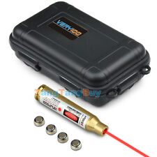 Tactical 223 REM Brass Red Laser Cartridge Bore Sighter +VERY100 Waterproof Case