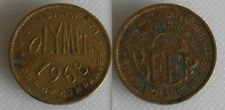 Collectable 1968 Olympia Token - Ask Him For Beer - Cincinnati Group Lot 1