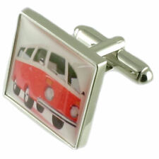 Sterling Silver Vw Campervan Novelty Cufflinks Engraved Message Box
