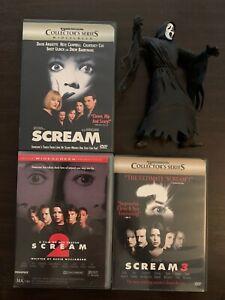 SCREAM DVDs & Ghost Face Figure.