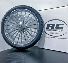 Harley Davidson, Illusion Chrome wheel and tire combo by RC Components