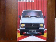 CATALOGUE PROSPECTUS PUBLICITAIRE PEUGEOT J5 UTILITAIRE CAMIONNETTE 1984