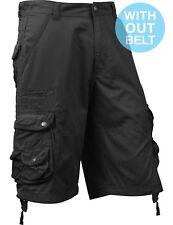 Mens Cargo Shorts Casual Multi Pocket Short Twill Cotton Pants Summer Big Size