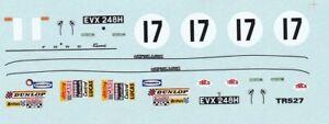 decals Silverstone 1/43 - Ford Escort MKI 1600 TC  #1 1970 J Stewart