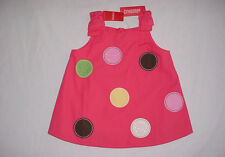 NWT Gymboree Girls TEA FOR TWO Big Polka Dots Bow Shoulders Tank Top Sz 9 VHTF