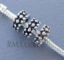 3 pcs Silver tone Charms Spacer large hole Beads Fit European style Bracelet C81