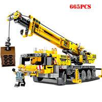 City Engineering Machine Car 665pcs Building Blocks Compatible Legoings Technic