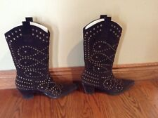 Kathy Van Zeeland Wynonna Women's Genuine Leather Studded Boots Size 7.5