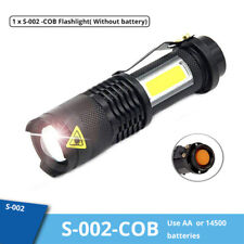 Portable XPE+ COB LED Flashlight Torch 14500 USB Lamp Light Camping Rechargeable
