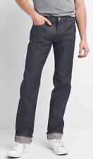 NWT $108 Gap Japanese Selvedge Jeans in Straight Fit, RAW, 33x34