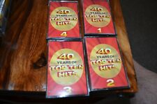 40 YEARS OF TOP TEN HITS   VARIOUS  ARTISTS     FOUR   CASSETTE  TAPES