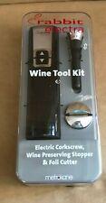 Rabbit Electra Automatic wine tool kit opener Metrokane corkscrew set electric