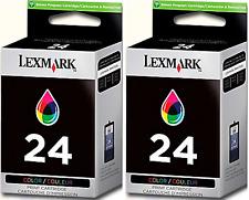 New Genuine Lexmark 24 2PK Ink Cartridge X Series X4530 X4550 Z Series Z1420