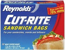 Reynolds Cut Rite Wax Paper Sandwich Bags, 50 Count Pack Of 1